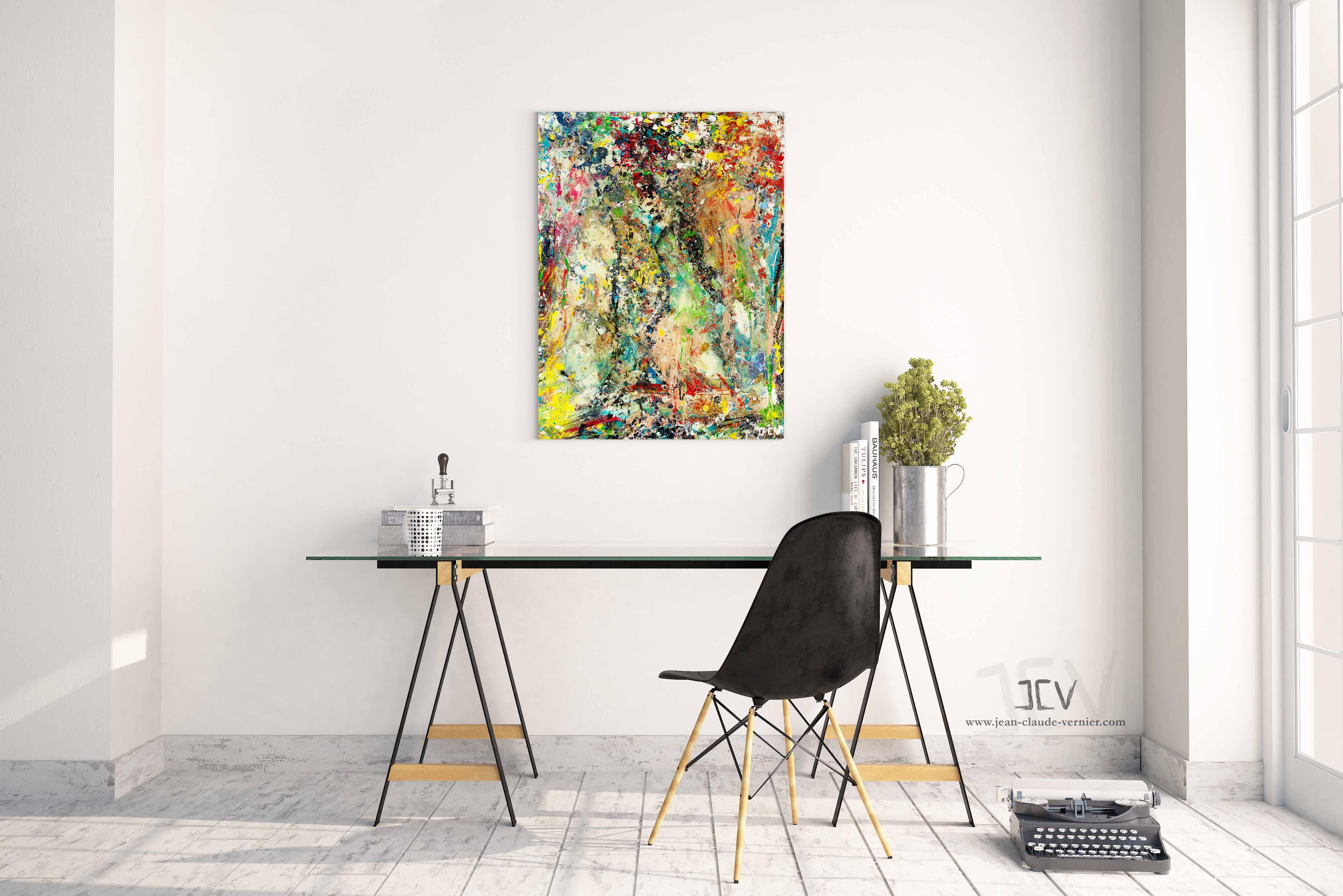 Acheter Flamenco, un tableau unique coloré pour votre décoration murale