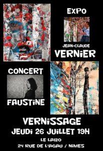 Exposition et vernissage des tableaux de l'artiste peintre contemporain Jean Claude Vernier à Nimes