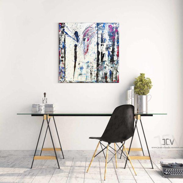 Peinture pour décoration mural intérieur d'un artiste peintre
