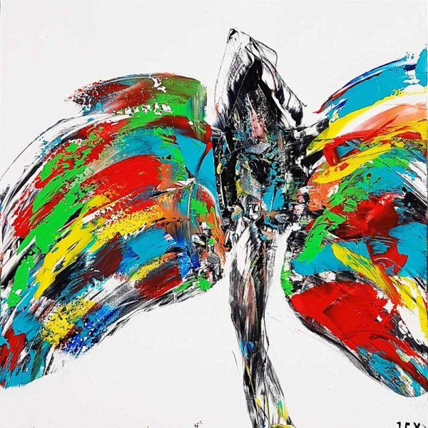Acheter la femme papillon, un tableau de l'artiste peintre contemporian JCV