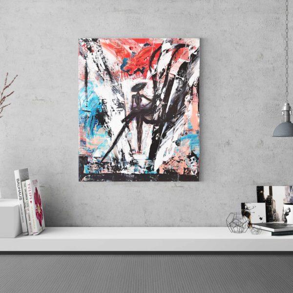 Acheter La Parisienne, une peinture abstraite et design