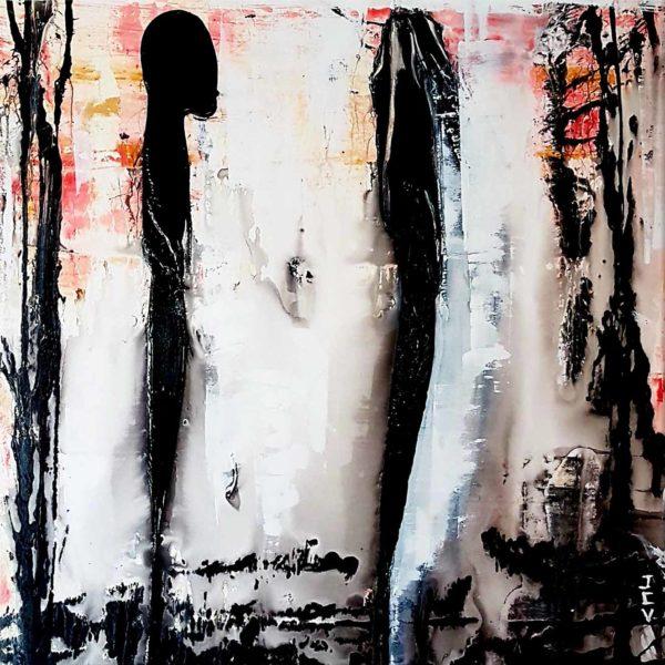 La Rencontre, peinture abstrait et moderne pour votre déco intérieure