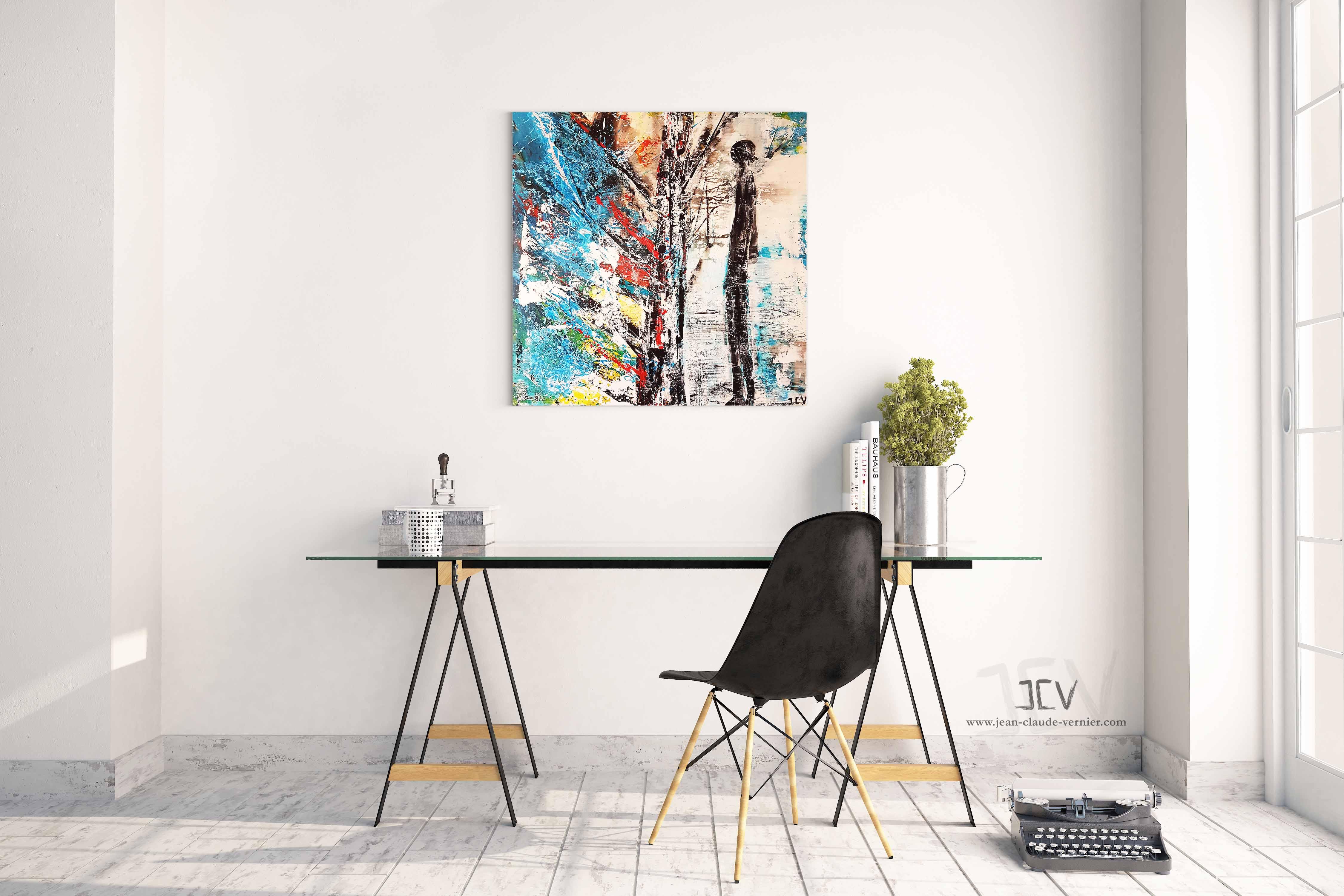 Le Mur - Jean-Claude Vernier, Artiste Peintre Contemporain