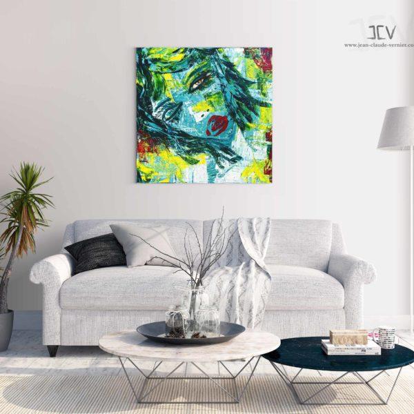 Acheter un tableau abstrait contemprain moderne et une peinture abstraite de la galerie de l'artiste peintre JCV