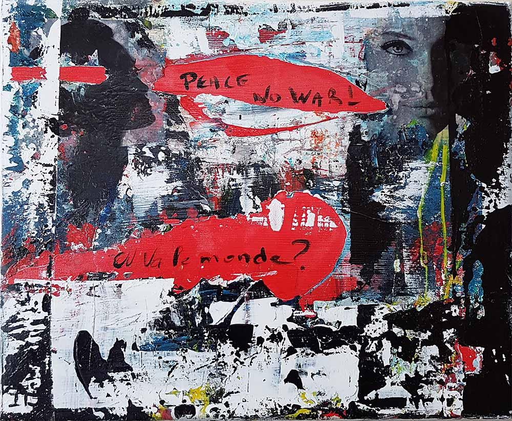 Acheter une peinture abstraite et contemporaine dont le titre est où va le monde ?