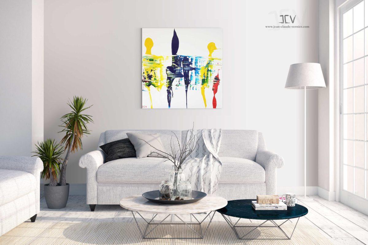 Tableau abstrait Jean Claude Vernier 17 Novembre 2018