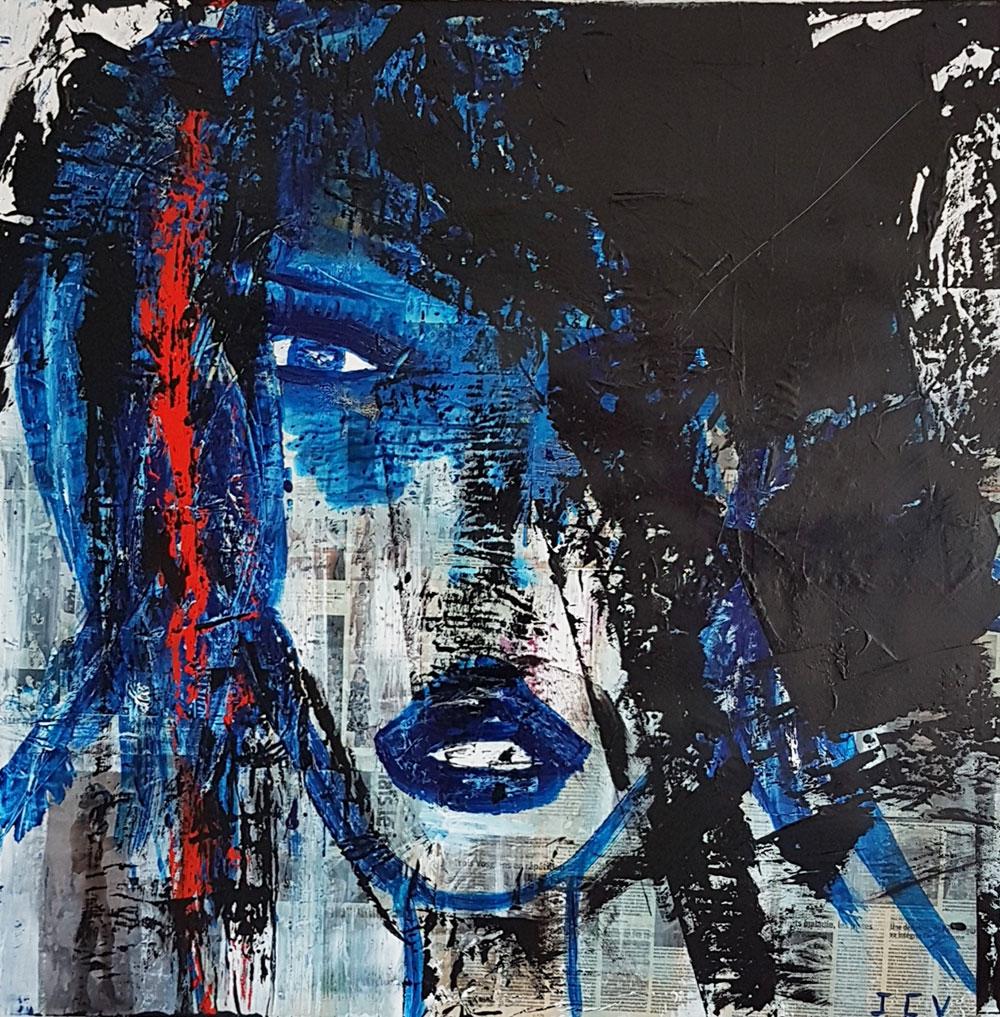 Crise de nerf, peinture abstraite de Jean Claude Vernier