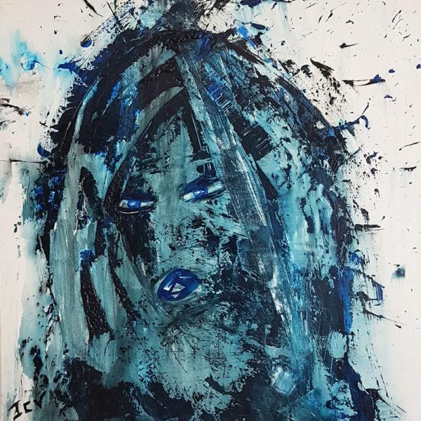 Rebelle est un tableau moderne, contemporain de Jen Claude Vernier artiste peintre