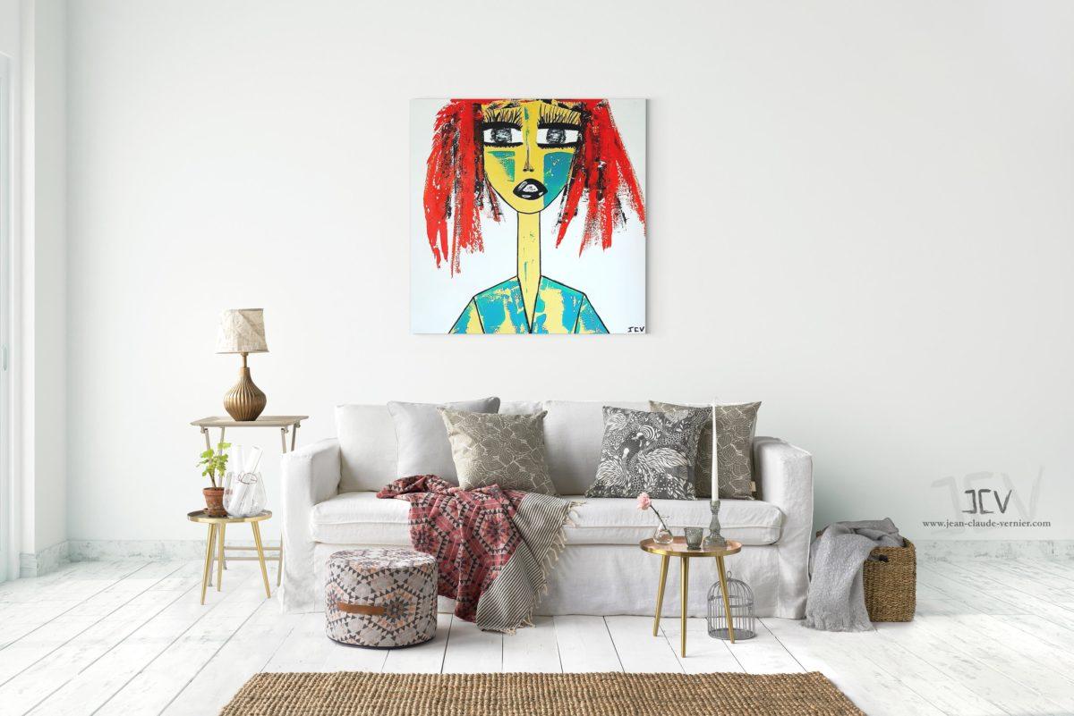 Ella N°2 est une tableau contemporain moderne de l'artiste JCV