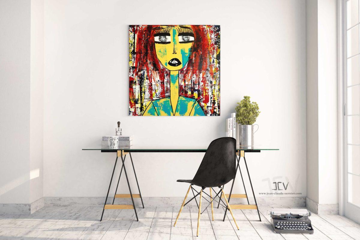Ella N°3 est une tableau contemporain moderne de l'artiste JCV