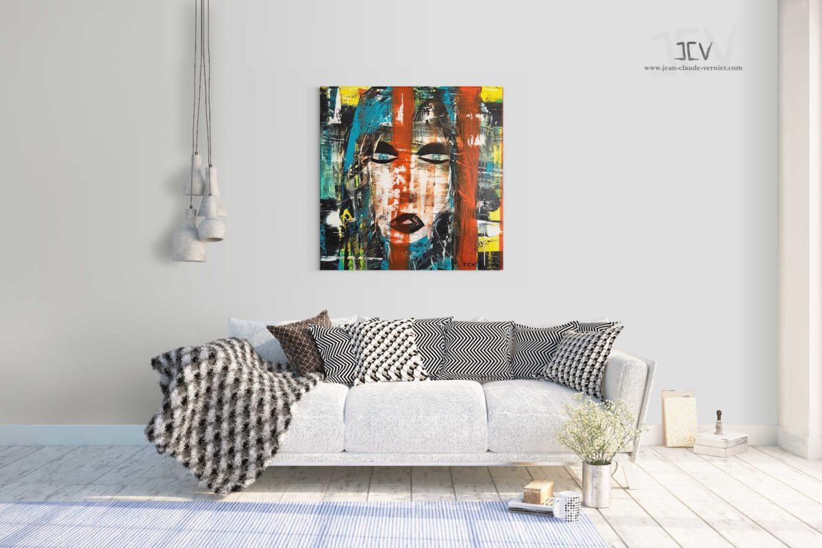 Elle N°5 est une tableau contemporain moderne de l'artiste JCV