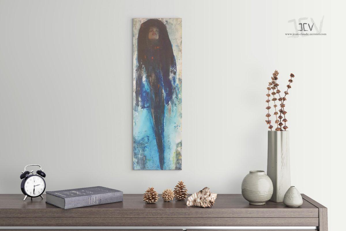 Les Paradis Bleus est une tableau contemporain moderne de l'artiste JCV
