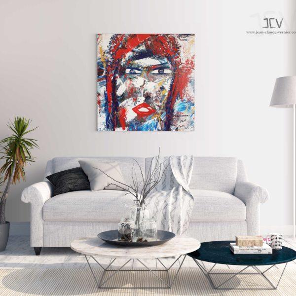 Marianne est une tableau contemporain moderne de l'artiste JCV