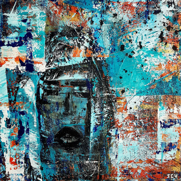 Blue Melody est un tableau contemporain moderne