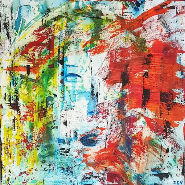 Passion est une toile moderne pour decoration interieure