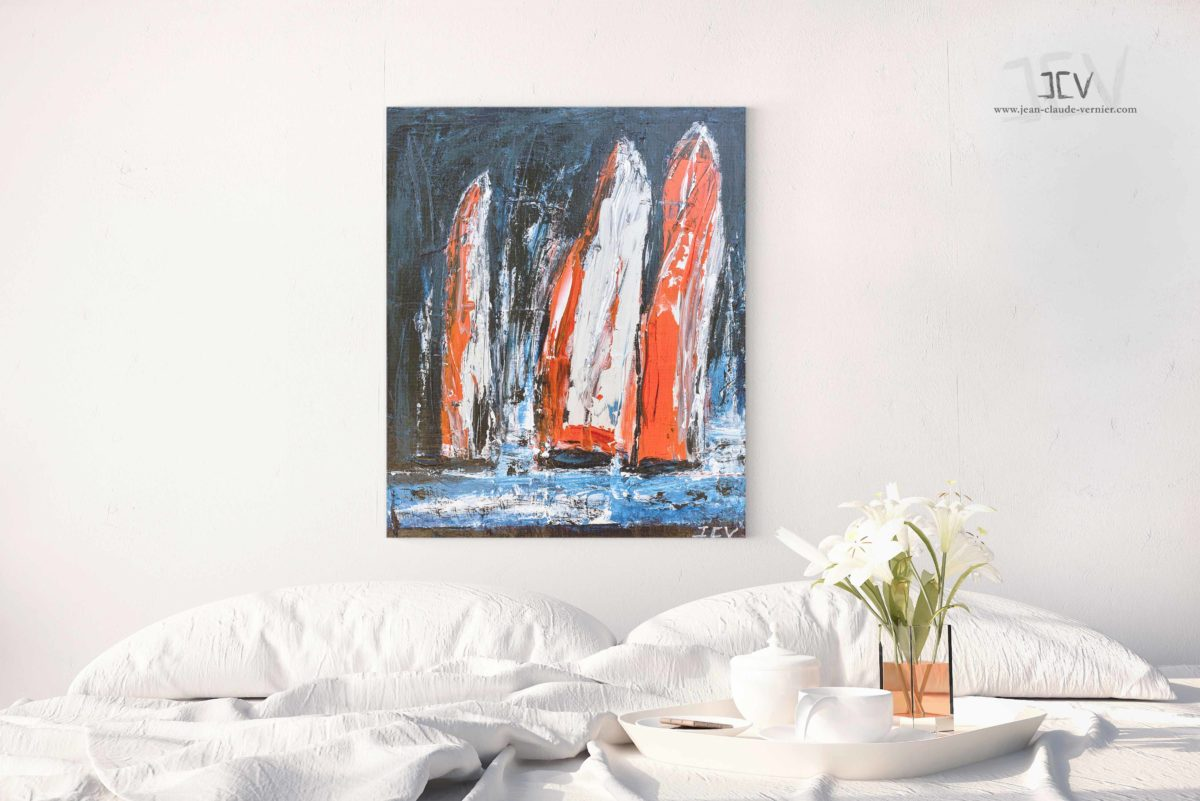 Regate Nocturne est un tableau moderne
