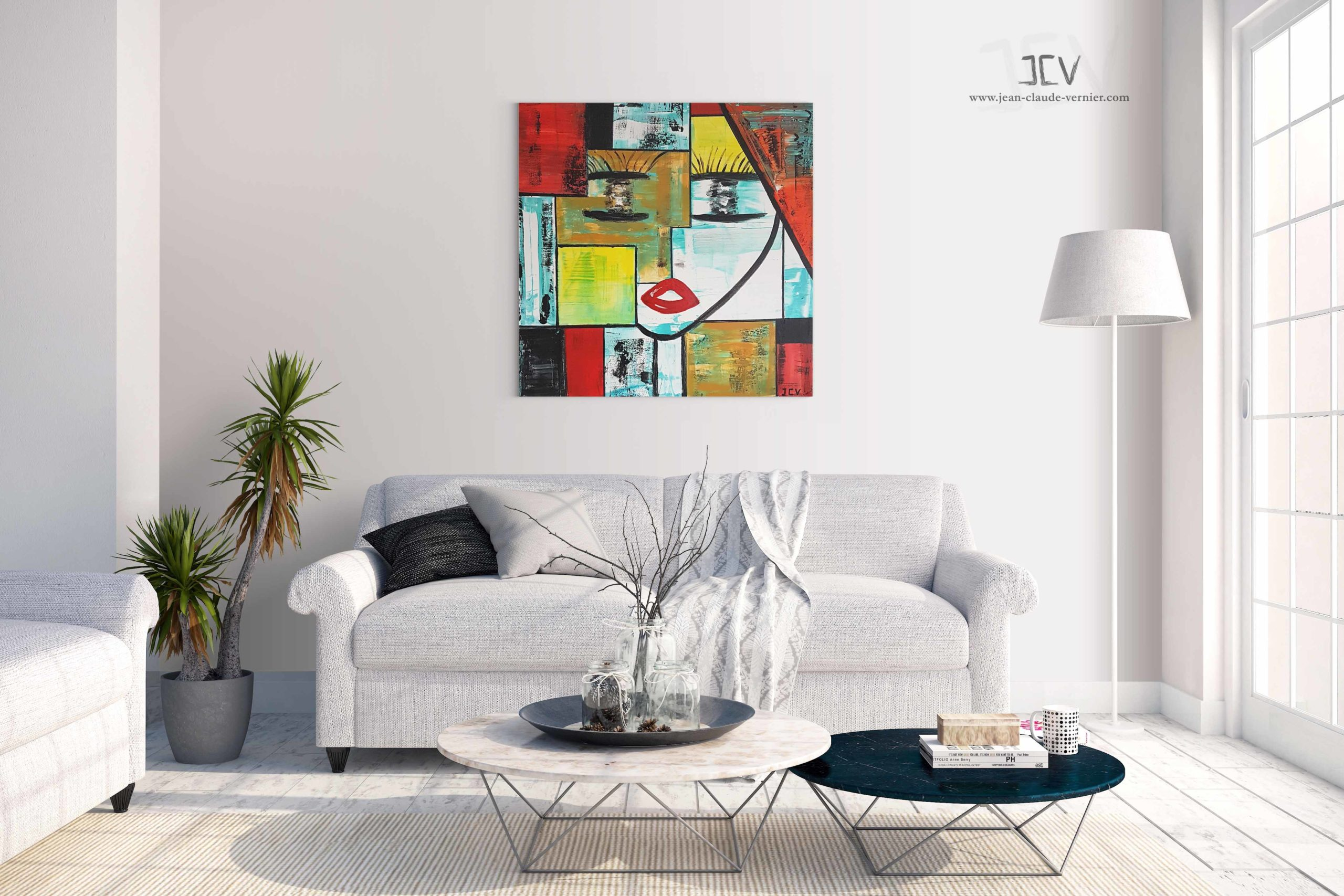Ella super star est un tableau contemporain moderne pour votre decoration interieure pas chere